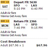 sfo-las-sw-sample-fare